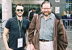 Director Stephen Kijak and cinemaniac Harvey Schwartz