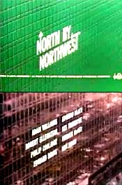 Stills from the North by Northwest opening