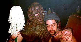 Toxie gives Andy a big hug