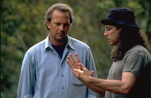 Kevin Costner and director Tom Shadyac in Dragonfly