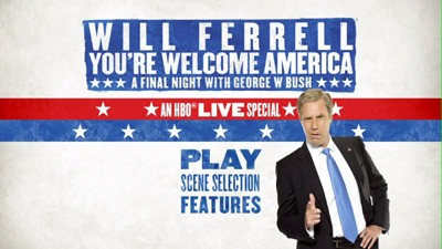 Will ferrell you 39 re welcome america a final night with george w bush dvd talk review of - Will ferrell one man show ...