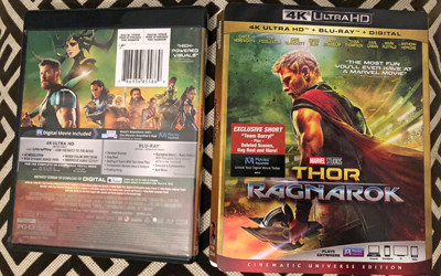 6afa9039e7086b ... standard 4K/Blu-ray combo package from Marvel (Disney), sporting  colorfully green artwork featuring the side profile of Chris Hemsworth  post-makeover.