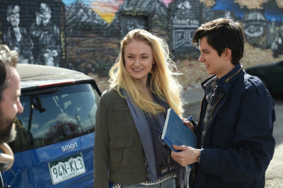Asa Butterfield and Sophie Turner