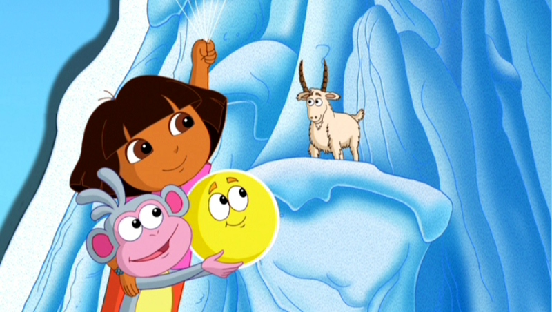 Dora the explorer ice skating episode / Dhanush tamil movie song