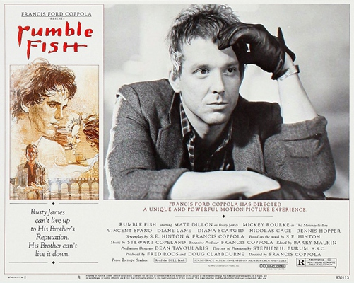 rumble fish criterion collection blu ray dvd talk review of  the fold out poster insert includes a new essay by critic glenn kenny technical specs and a memorable film themed image on the reverse side